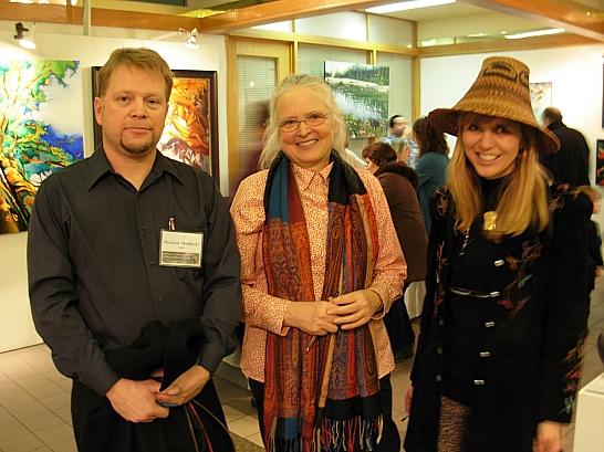Artists Dominik Modlinski, Peggy Sowden, April White
