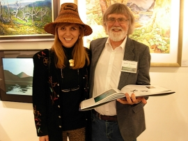 Haida artist April White with Tofino artist and project organizer Mark Hobson