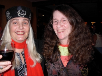 Mona Fertig (left) and Kim Goldberg