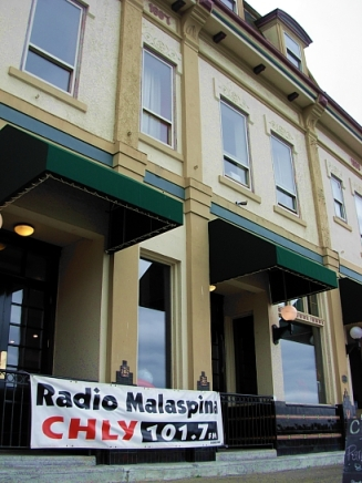 Nanaimo's historic Globe Hotel is the controversial new home for Radio CHLY. (Photo © Kim Goldberg, 2013)