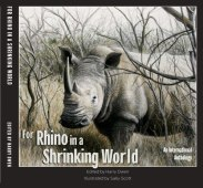 For Rhino in a Shrinking World - an international anthology of eco-poetry. Artist: Sally Scott