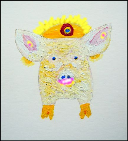 Piggy Pipstick Queen by Joe Rosenblatt