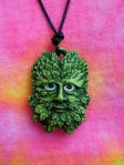 Green man talisman given to the authors in the book