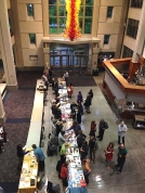 Small Press Bookfair ran throughout the Festival at Seattle U. (Photo by Cascadia Poetry Festival)
