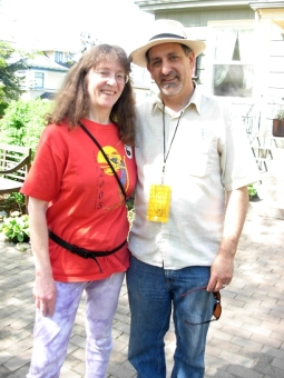 Kim Goldberg & Festival founder Paul Nelson (Photo © Kim Goldberg)