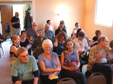 The crowd for the ForceField readings (Photo © Kim Goldberg)