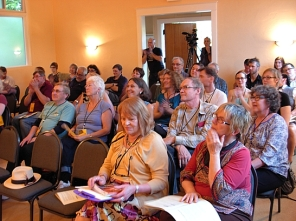 The crowd for the ForceField readings. (Photo © Kim Goldberg)