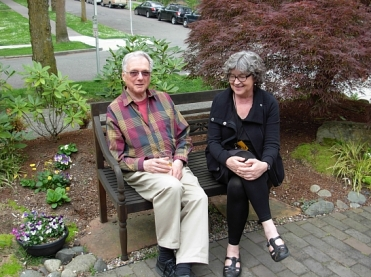 Vancouver Poet George Stanley and Leaf Press publisher Ursula Vaira. (Photo © Kim Goldberg)