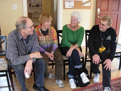 Gordon May, Lynn, Linda Crosfield, David Fraser. (Photo © Kim Goldberg)
