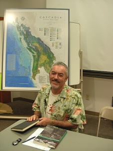 Trevor Carolan on the GeoActivism panel (Photo © Kim Goldberg)