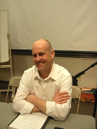 Eric De Place, policy director for Seattle's Sightline Institute - also on the GeoActivism panel (Photo © Kim Goldberg)