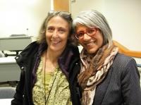 BC poets Joanne Arnott and Renee Saklikar. (Photo © Kim Goldberg)