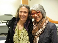 BC poets Joanne Arnott and Renee Saklikar. (Photo © Kim Goldberg)