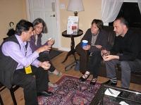 Paul Nelson, Joanne Arnott, jo Lilley, Stephen Collis at Spring Street Center (Photo © Kim Goldberg)
