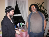 Seattle poet Maged Zaher (right) (Photo © Kim Goldberg)