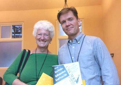 Linda Crosfield and Chris Fink-Jensen (photo by Danika Dinsmore)