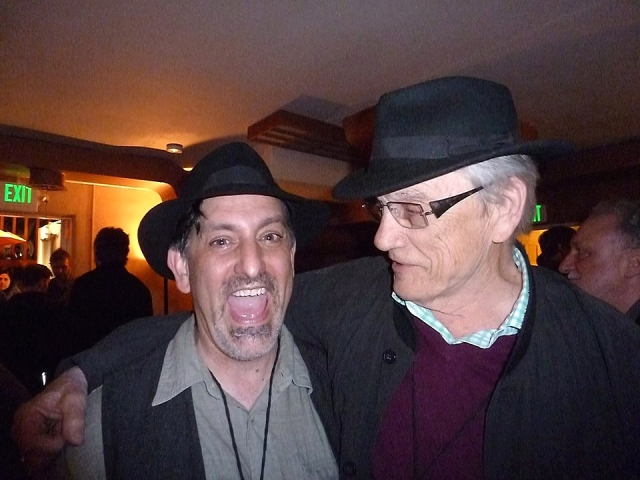 Paul Nelson (left) with vancouver poet George Bowering. (Photo © Linda Crosfield)