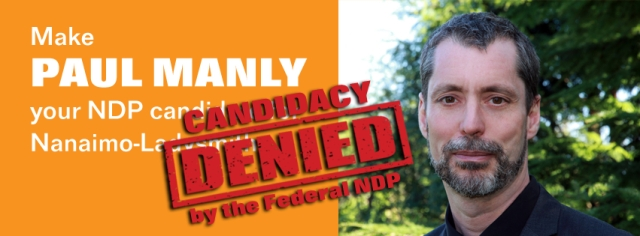 Paul Manly-Candidacy Denied