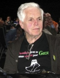 "Retired New Democrat MP Jim Manly was aboard the ""Estelle"" Freedom Flotilla to Gaza in 2012."