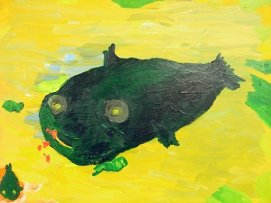 "painting of ""Moby Minnow"" by Joe Rosenblatt"